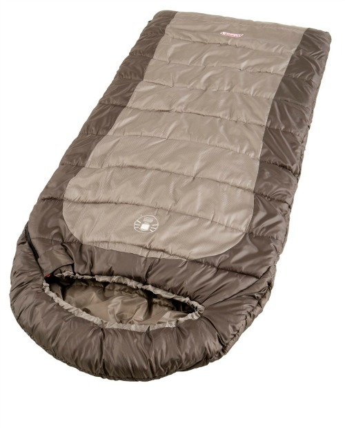 brown Coleman sleeping bag