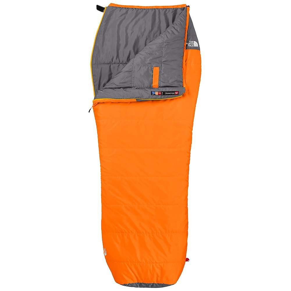 orange North Face barrel bag