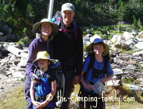 backpacking family