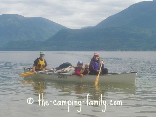 canoe camping family