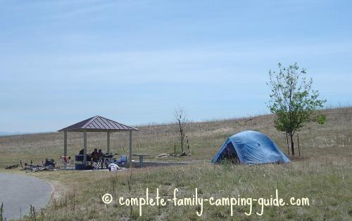 Antelope Island campsite