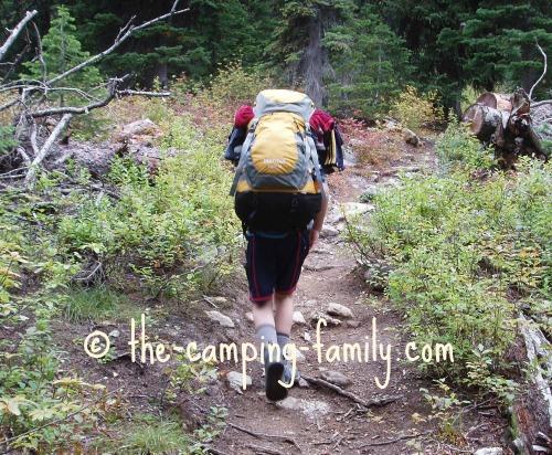 backpacker on trail