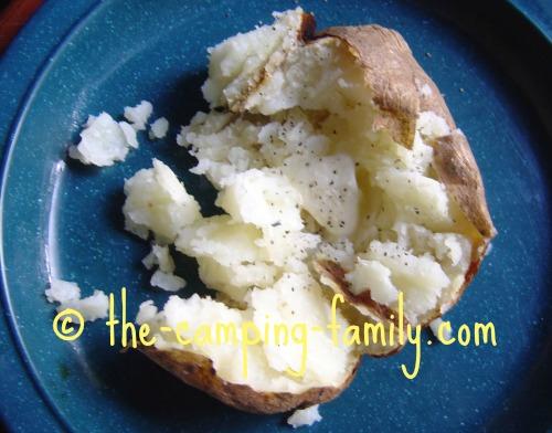 baked potato on plate