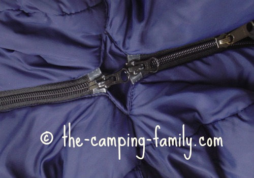 two zippers zipped together