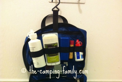 bathroom toiletries kit with hook