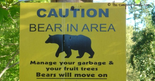 Caution: bear in area sign