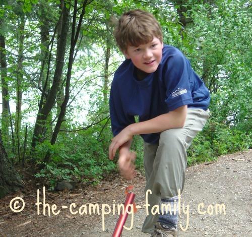 boy at camp