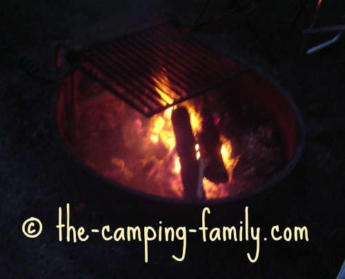 campfire with grill