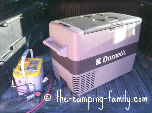 camping fridge with battery