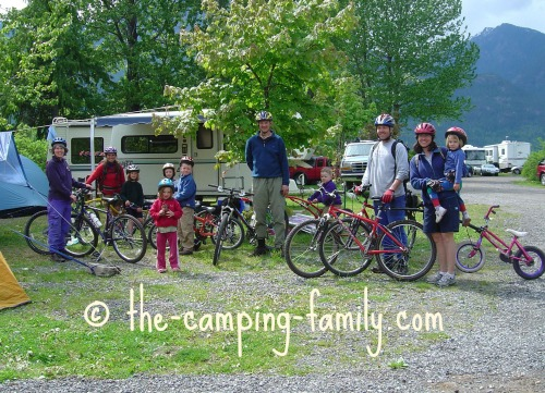 families at campground