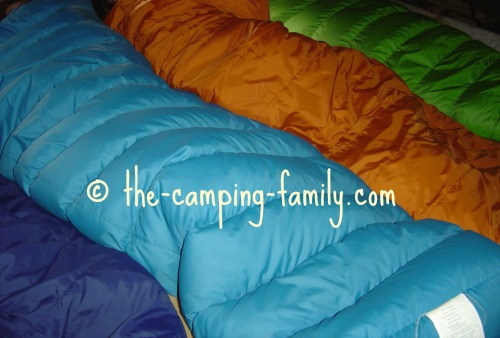 four sleeping bags