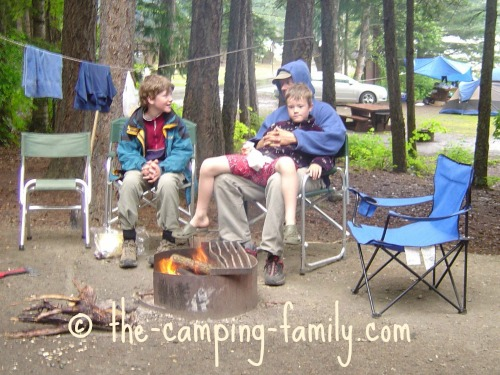 camping on a cool day
