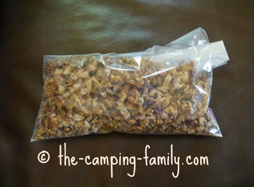 dried chicken in ziploc bag