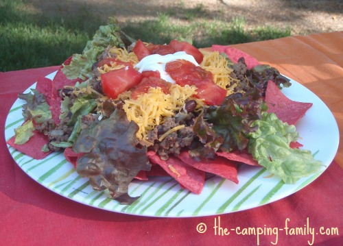 Taco Salad for camping