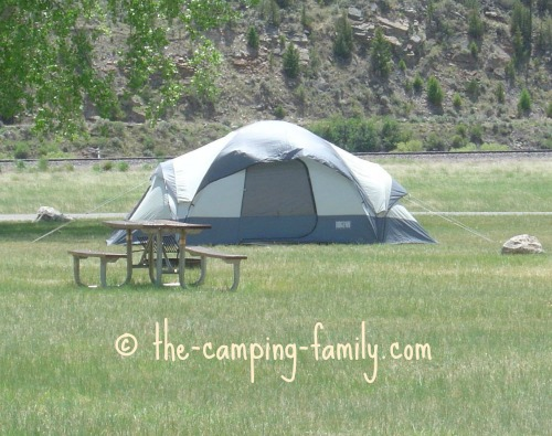 large dome camping tent