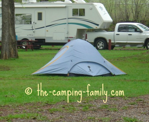 low profile dome camping tent