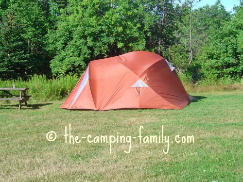 red dome tent