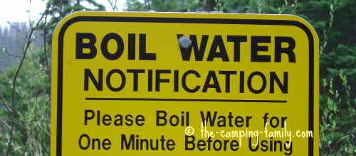 boil water advisory sign