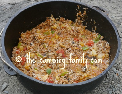 cooked rice and meat and toppings
