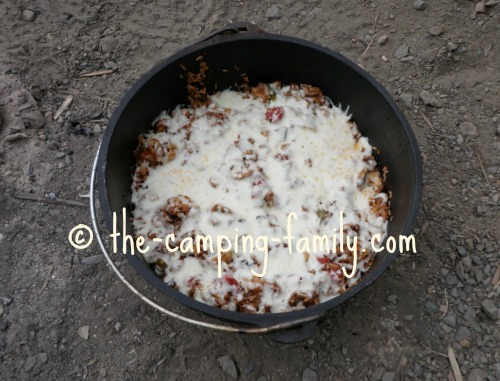 Dutch oven rice pizza