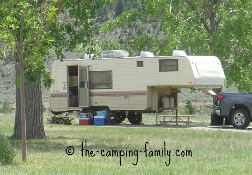 large fifth wheel trailer