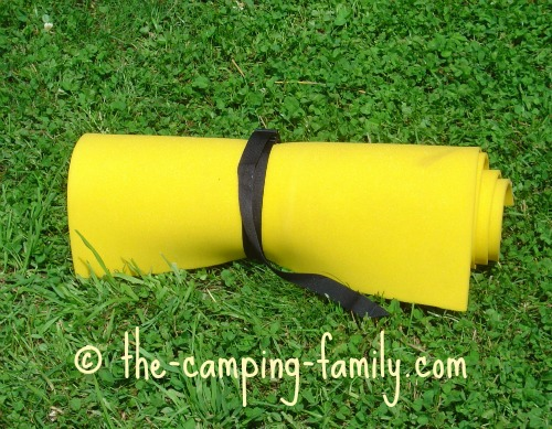 yellow closed cell foam pad
