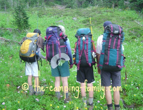 four backpackers