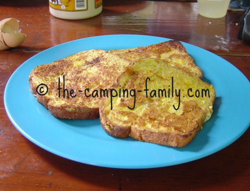 French toast on plate