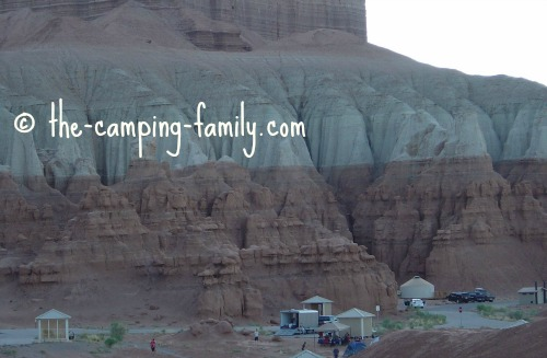 campsites at Goblin Valley State Park