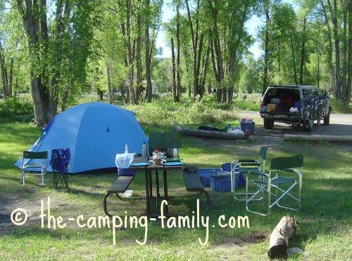 campsite at Grand Teton National Park