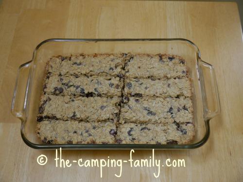 baked granola bars cut into bars