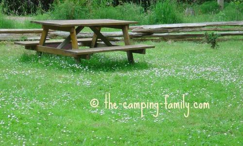 grassy campsite
