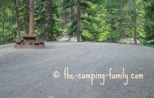 gravel campsite