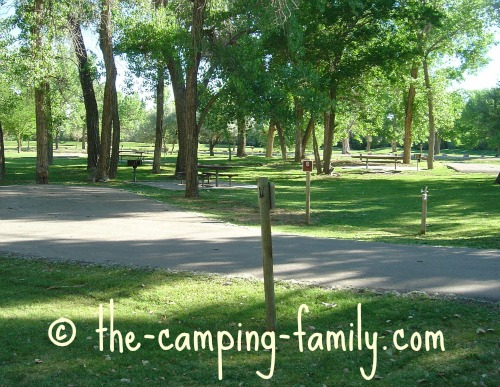 campsites at Green River State Park