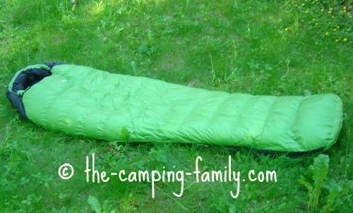 green down sleeping bag