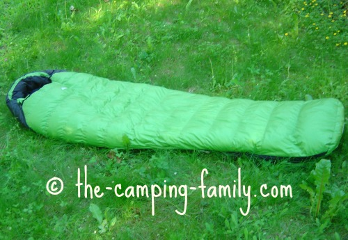 green down sleeping bag