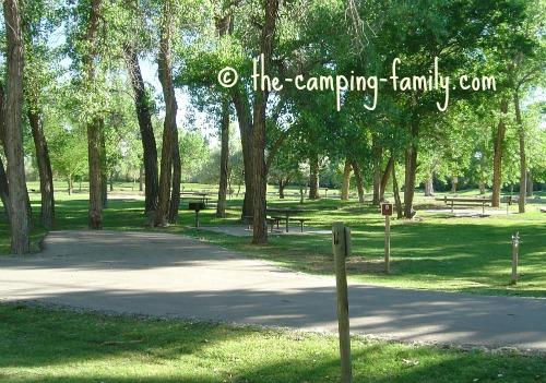 grassy campsites