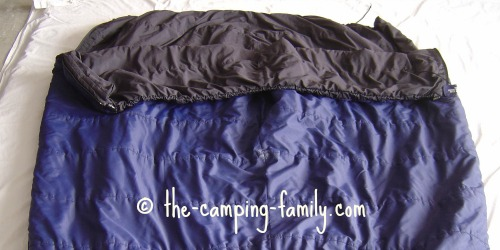 sleeping bags zipped together