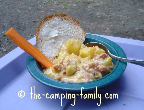 Ham and Cheese Gratin in bowl