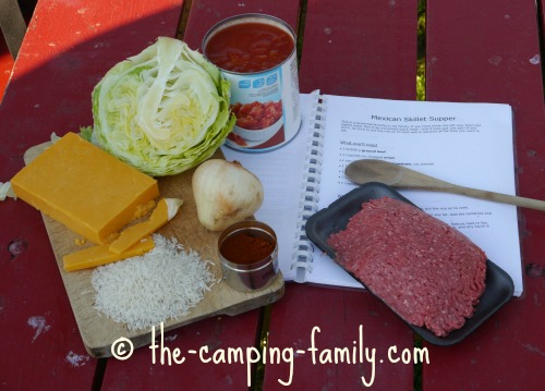 ingredients for Mexican Skillet Supper