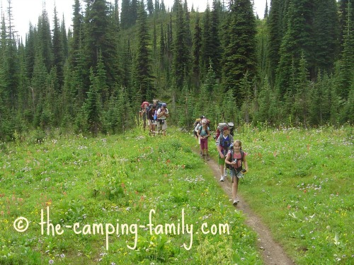 hikers on trail