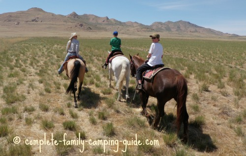 horseback riding on Antelope Island