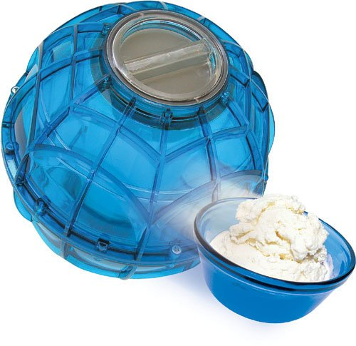 ice cream ball and ice cream