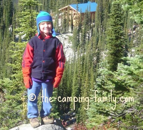 smiling boy wearing fleece jacket