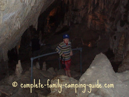 inside Lewis and Clark caverns