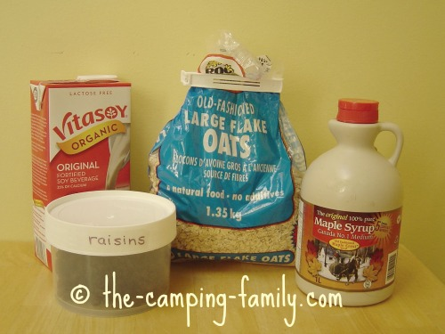 ingredients for homemade oatmeal