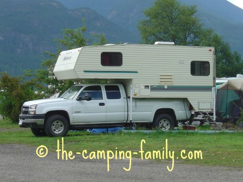 truck camper with aluminum siding