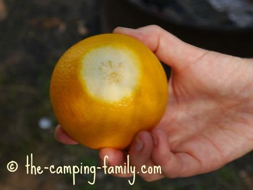 orange with flat base