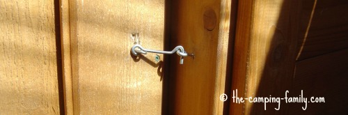 hook on outhouse door