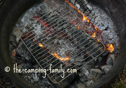 grill over campfire